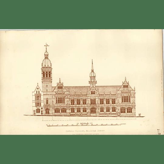 1892, Oxford Municipal Buildings Design, Harrison Architect