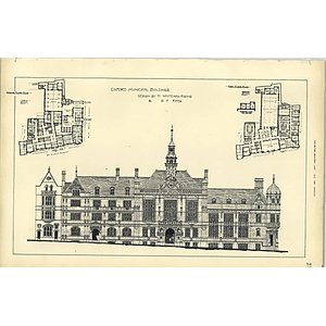 1892, Oxford Municipal Buildings Design Whiteman Rising