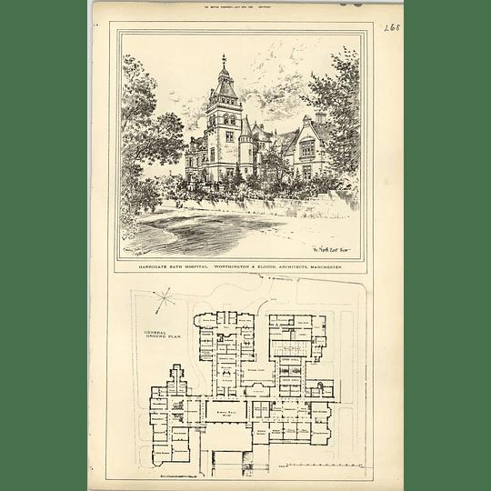 1889, Harrogate Bath Hospital Worthington And Elgood Architects