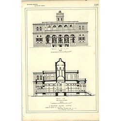 1885, Projected Military Hospital Design For Hot Climate Andrew Clarke