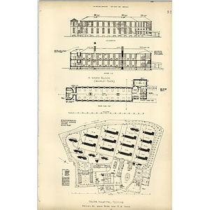 1894, Fountain Fever Hospital, Tooting, Layout Plan