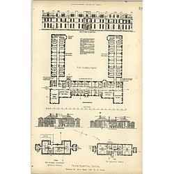 1894, Fountain Fever Hospital Tooting, Nurses Home Plans