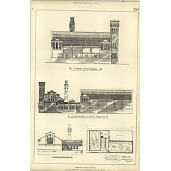 1889, Design For Public Baths, Booth Horsfield