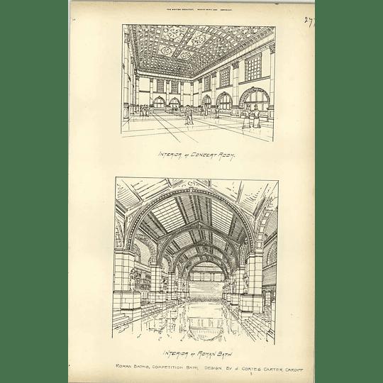 1894, Roman Bath Competition, Bath, J Coates Carter Cardiff