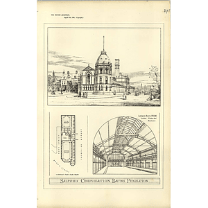 1885, Salford Corporation Baths Pendleton, Design Plan
