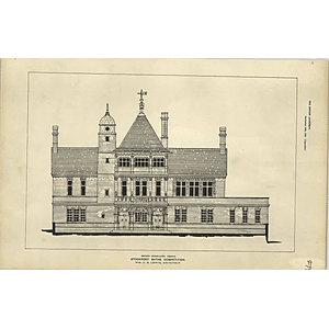 1885, Stockport Baths Competition Gb Lewis Architect