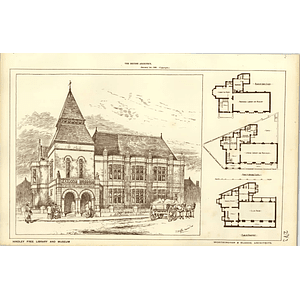 1886, Hindley Free Library And Museum Design Plans