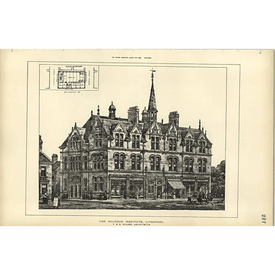 1889, The Balfour Institute Liverpool Fg Holme Architect