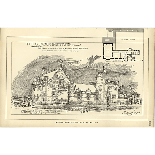 1889, The Gilmour Institute For Girls Presented To Vale Of Leven Design