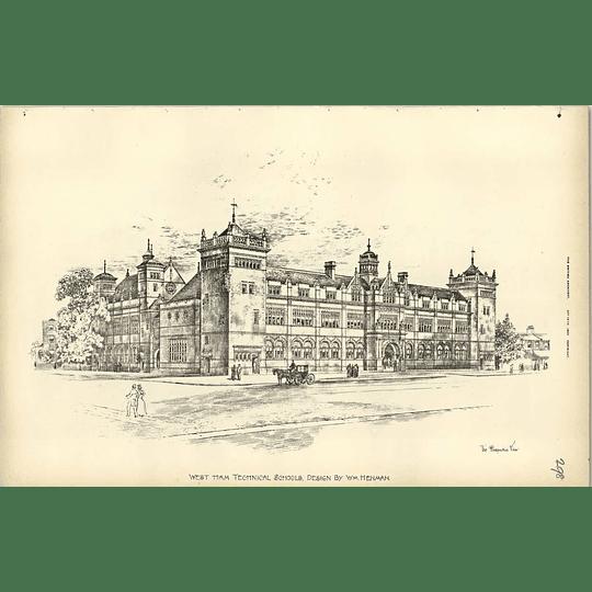 1895, West Ham Technical Schools Design Henman