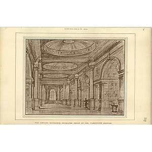 1888, Ssc Library Edinburgh Design Washington Browne