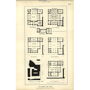 1887, Edinburgh Free Library Floor Plans, Basement