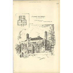 1893, Small Art School For A Provincial Town Welby Hall Design Eb Lamb