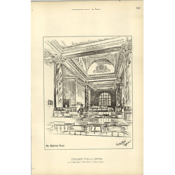 1892, Chelsea Public Library Reference Room Jm Brydon