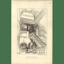 1892, Chelsea Public Library Staircase Jm Brydon