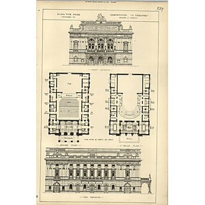 1889, Design For A Theatre, Awarded Frank T Verity