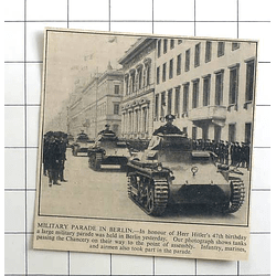 1936 Military Parade In Berlin In Honour Of Hitler's 47th Birthday