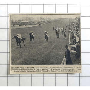 1936 Finish Of The City And Suburban Handicap Race Epsom, Gf Annesley