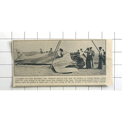 1936 Mrs Mollison's Percival Gull After Accident At Colomb Bechar, Undercarriage