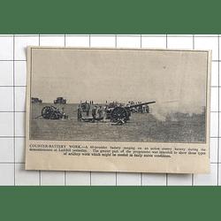 1936 Demonstrations Of Artillery Work At Larkhill