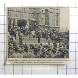 1936 King Addressing Scouts St. George's Chapel Windsor