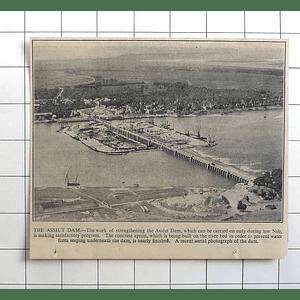 1936 Progress On Strengthening The Assiut Dam, Aerial Photograph
