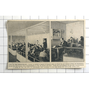 1936 Life In The Hindenburg, Large Dining Hall, Writing Room