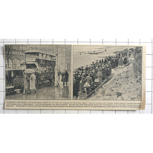 1936 Scene At Hyde Park Corner And Front At Eastbourne During Easter