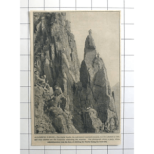 1936 Party Of Climbers Topping The Gable Needle Lakeland