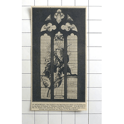 1936 Durham Cathedral Window To Sir Basil Blackett, Work Of Mr H Easton