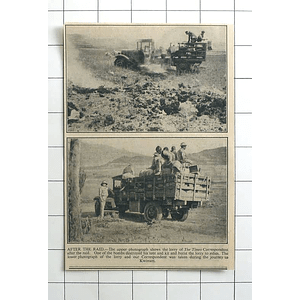 1936 Lorry Destroyed After Raid On Kworam