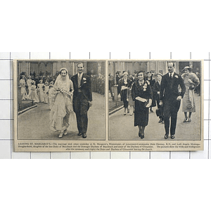 1936 Marriage Of Lt Cmdr Peter Dawnay, Lady Angela Montagu Douglas Scott