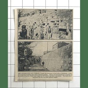 1936 Cyprus Antiquities Nicosia Walls Restored