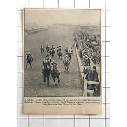 1936 Thrilling Dead Heat, Great Metropolitan Stakes At Epsom, Quashed, Jack Tar