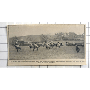 1936 Craven Harriers Hunt, Skipton, Point-to-point Meet