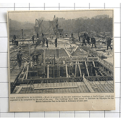 1936 Work In Progress At Earls Court On New Exhibition Buildings