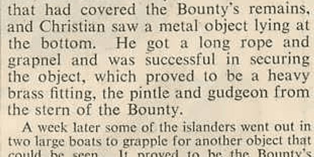 The Bounty's Rudder, Souvenir Hunters' Depredations
