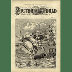 1874 Wj Webb Artwork Protecting Her Sandcastle
