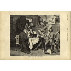 1874 Artwork Depicting A Merry Party From Picture E Grutzner Primitive Berck