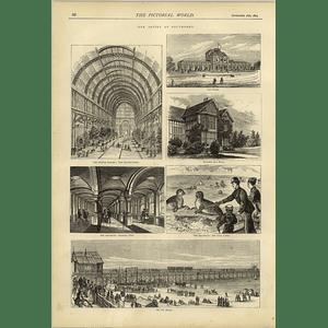 1874 Southport Pier Aquarium Winter Garden Baths