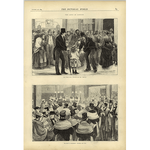 1874 Jews In London Waiting For Shofar Day Of Atonement Reading The Law