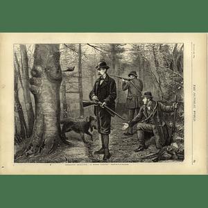 1874 Pheasant Shooting Artwork Gg Kilburne