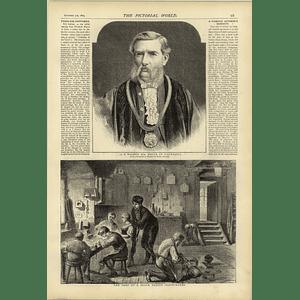 1874 A B Walker Mayor Of Liverpool Black Forest Clockmaker Shop