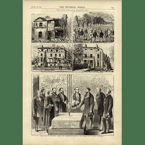 1874 Fatal Explosion Regents Park Walker Art Gallery Foundation Stone