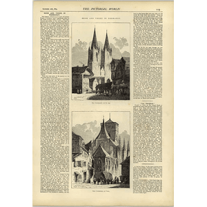 1874 Normandy Cathedral At St Lo And Vire East End Dog Row Poverty Market