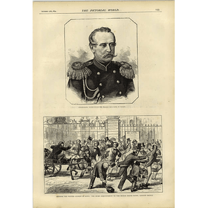 1874 General Schuvaloff Russian Ambassador Guys Hospital Rush Winter Session