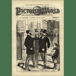 1874 Stockbroker And Correspondent Fracas St Bartholomew Lane