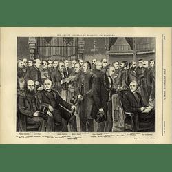 1874 The Church Congress At Brighton Various Bishops On The Platform