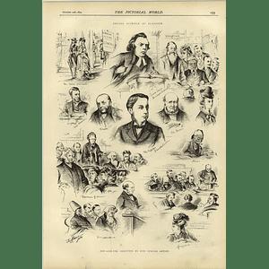 1874 Social Science At Glasgow Jim Karnie Sketches