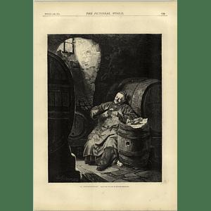 1874 Elephants Fording A Chinese Stream Wine Connoisseur Edward Grutzner